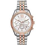 Michael Kors Women's Lexington Quartz Watch with Stainless Steel Strap, Rose Gold, 18 (Model: MK6711)