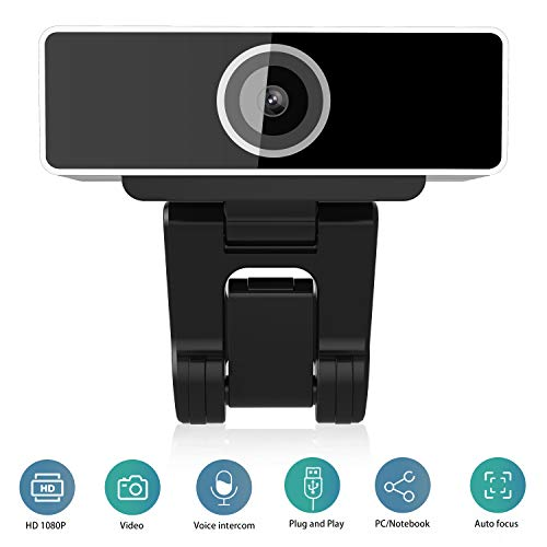 Webcam Jaybest 1080P Full HD per PC, webcam con microfono, videochiamata e registrazione per computer desktop portatile, fotocamera USB plug and play
