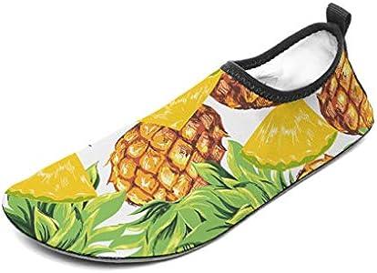 Wraill - Escarpines de playa, zapatos de agua, calcetines, piña, corte rápido, secado rápido, para hombre, mujer, niños, color blanco, 44/45