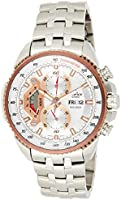 Casio Sport Watch Analog Display For Men Ef-558D-7A, Silver Band