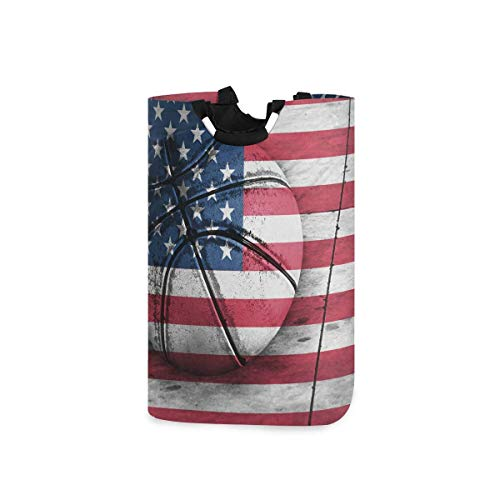 N\A Cesto de lavandería, Bandera de Estados Unidos Baloncesto Cestas de Almacenamiento de Ropa Ropa Plegable Organizador de Juguetes Bolsa para dormitorios Cuarto de Lavado Baño