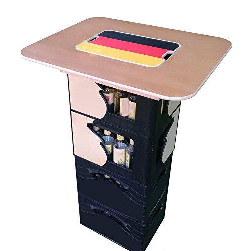 Original BestLoft® Tischaufsatz für Bierkasten - Stehtisch Partytisch Bistrotisch Tischaufsatz 70x58cm (Aufsatz+Servierbrett)