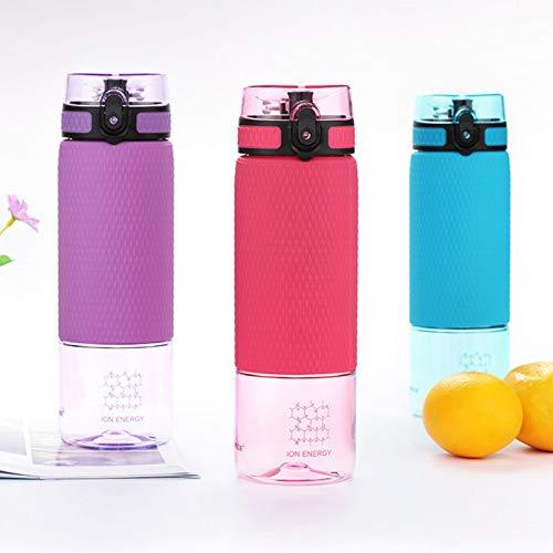 Trinkflasche mit Aromaeinsatz für Schule Fitness Outdoor Campen (Lila, 350ml)