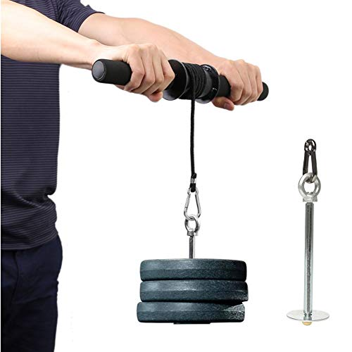PELLOR Forearm Exerciser, Fitness Wrist Exerciser& Forearm Roller Blaster, Arm Strength Trainer Fitness Equipment for Home Gym Exercise with Anti-Slip Handle Easy to Use for Men Women