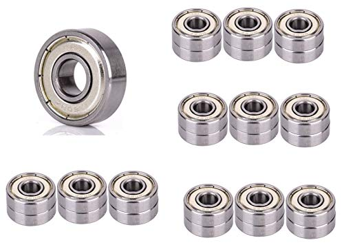 608Z Double Shielded Miniature Deep Groove Ball Bearing 8mmx22mmx7mm 24 pcs (Carbon Steel Material)