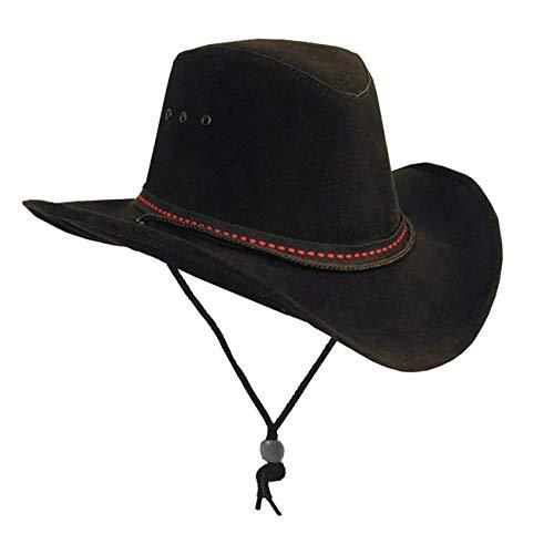 Kakadu Traders Cowboy Western Plains Soaka mit formbarer Krempe in schwarz