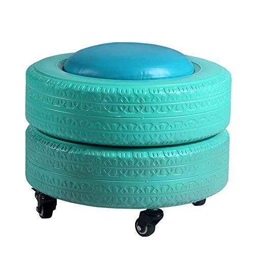 YumEIGE kruk bandenvorm, Sundries opslag, met wieltjes, voetenbankje 16,5 × 12,7 inch belasting 50 kg