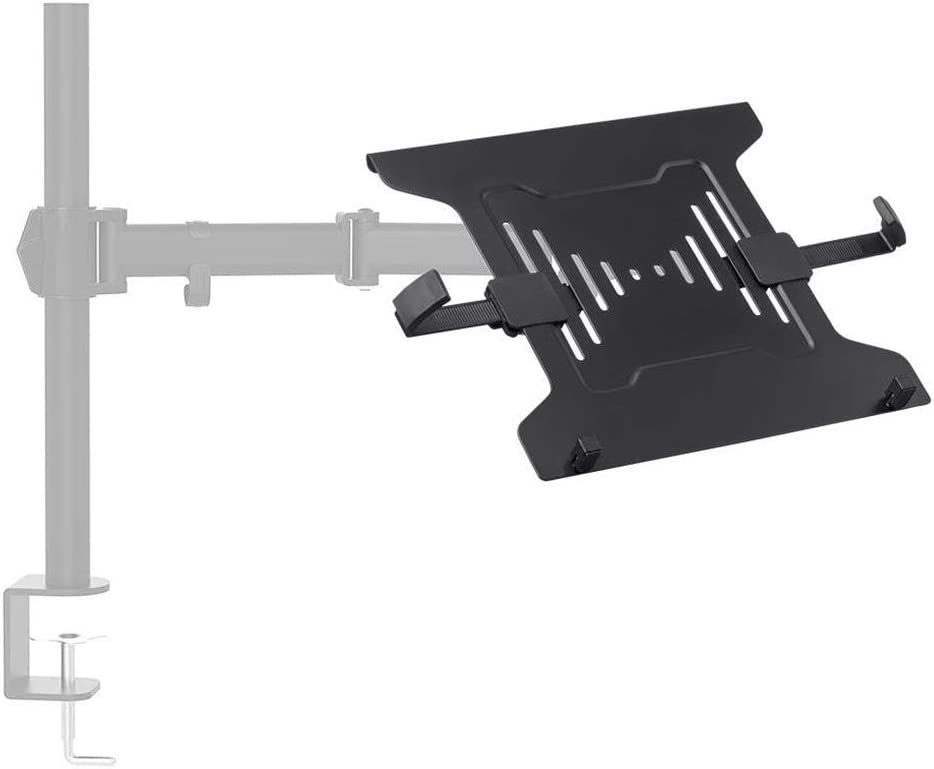 Monoprice Laptop Holder Attachment for LCD Desk Mounts - Black, Ideal for Work, Home, Office Laptops - Workstream Collection