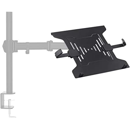 Monoprice Laptop Holder Attachment for LCD Desk Mounts- Black Ideal for Work, Home, Office Laptops - Workstream Collection