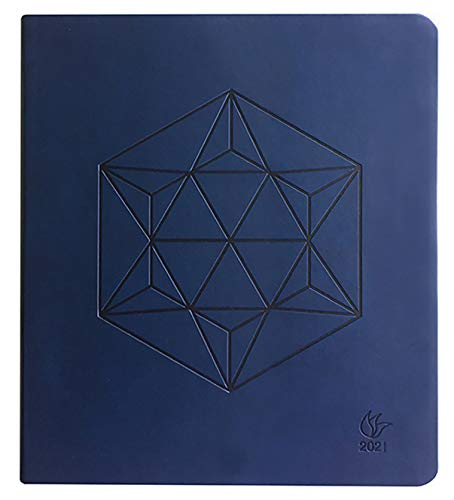 InnerGuide 2021 Planner - Dated Jan - Dec 2021 - 8x9 Inch Appointment Book - Daily Weekly & Monthly - by Inner Guide - Midnight