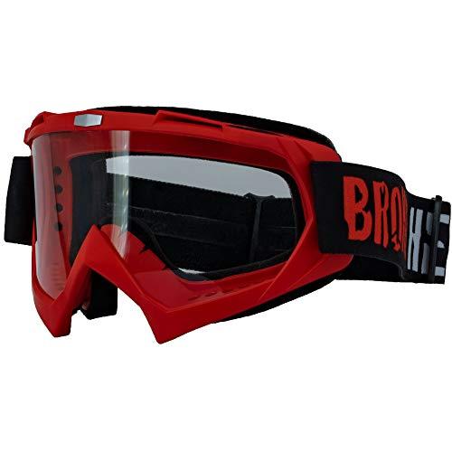 Broken Head MX-2 Goggle Rot - Motorrad-Brille Für Motocross, Enduro, Downhill, Offroad - Mit UV-Schutz