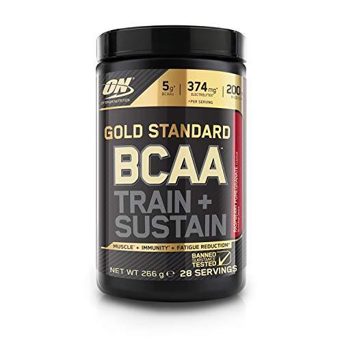 Optimum Nutrition Gold Standard BCAA Poudre, Complément Alimentaire BCAA en Poudre avec Vitamine C, Magnésium, Saveur Framboise Grenade, 28 Portions, 266g