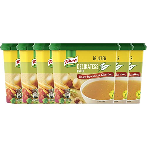 Knorr Delikatessbrühe 16 Liter Dose, 6er Pack (6 x 12 l)