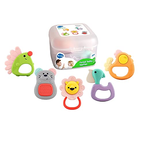 BABYFUNY Baby Toys 3-6 Months - Infant Toys 3-6 Months Baby Rattles Teething Toys for Babies 0-6 Months - 4 Month Old Toys for Babies - Baby Gifts Grab Shake Spin Rattle Toy