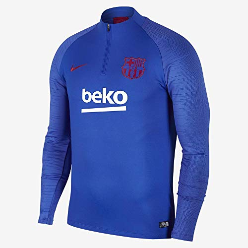 Nike FCB M Nk Dry Strk Dril Top Long Sleeve, Herren S Blau/Rot (Lyon Blue/Lyon Blue/Noble red)