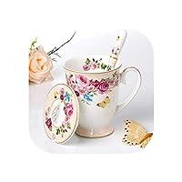 高貴な高級箸置きカップとソーサーセラミックティーセット加熱可能なガラスティーポット磁器コーヒーポット、1ピンクマグ