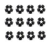 Gaoominy Paquete de 12 Balones de Futbolín Estilo Fútbol, Balones de Juego de Fútbol de Mesa Clásicos con Textura en Blanco y Negro