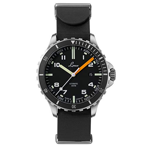 Reloj deportivo del Himalaya RB de Laco – Fabricado en Alemania – 42 mm de diámetro – Reloj automático de alta calidad – Calidad excepcional – Resistente al agua 30 ATM – desde 1925