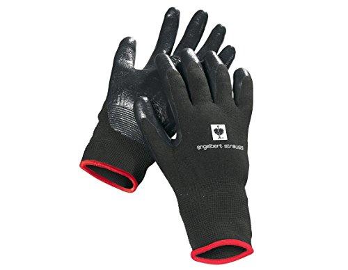 Engelbert Strauss Nitril-Handschuhe Flexible, Farbe:schwarz, Größe:XL