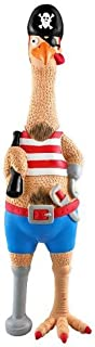Ruffin'It 80527-1 Large Captain Jack Chicken Pet Toy, Latex/Rubber
