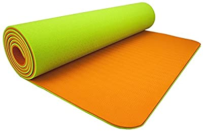 Wacces High-Density Anti-Tear Non-Slip Double-Sided YOGA MAT with Carrying Strap
