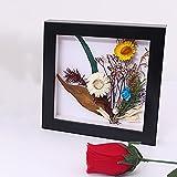 Marco de fotos 3D de profundidad 2 cm, caja de sombra para flores hechas a mano de...