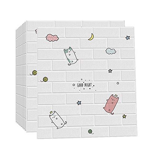 3D Wandpaneele Selbstklebend 3d Ziegelstein-Tapete Brick Muster Tapete für Kinderzimmer Schlafzimmer Wohnzimmer Moderne tv Schlafzimmer Wohnzimmer Dekor(1210pcas)