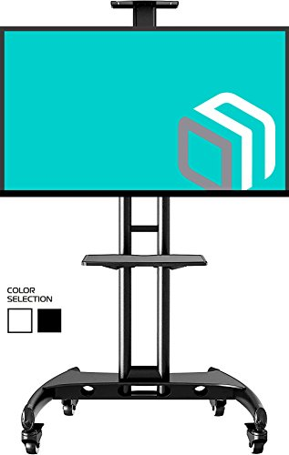 """STANDMOUNTS Supporto per TV a pavimento per LCD LED Plasma 32"""" - 65 pollici PORTA TV UNIVERSALE CON ROTELLE PIEDISTALLO PER TV FINO 45.5 kg MOBILE STAFFA TV CON VESA max 600 x 400 mm AVA1500-60-1BLK"""