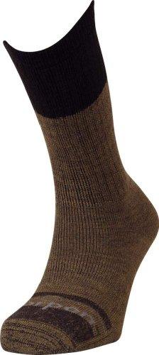 Lorpen Work Socken aus Italienischer Wolle, 2 Stück XL braun