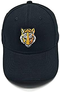 Tiger Head Embroidered Baseball Cap Cotton Dad Hat Adjustable Outdoor Sports Hip Hop Hat Snapback Hat