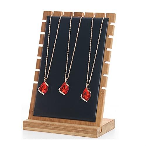 Colgador de Collares Soporte de collar de joyas de exhibición de la exhibición del resistente de la joyería de la joyería del soporte de la joyería de los soportes de las mujeres Organizador del colla