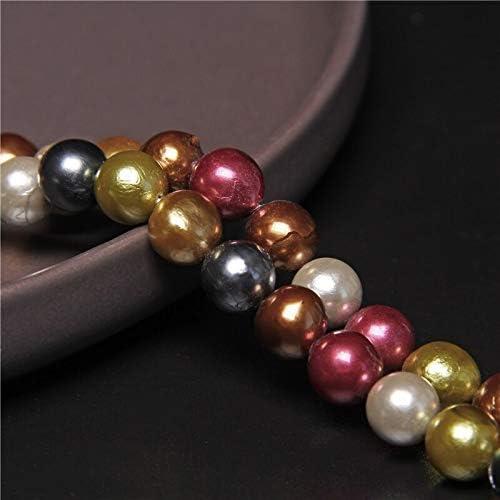 BD-21248 DIY Beads 9-10mm Pearl Multicolor Colorfu Low New mail order price Natural