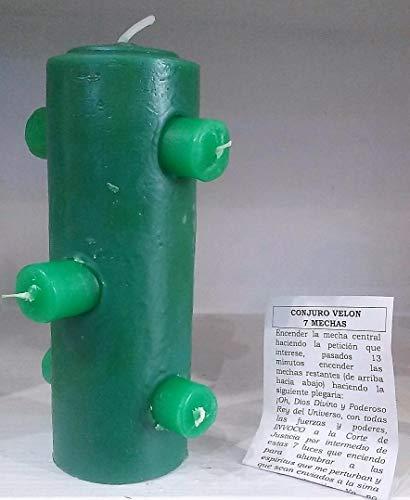 El Sendero, Sano y Natural Velón 7 mechas Verde - ROMPE MAGIAS