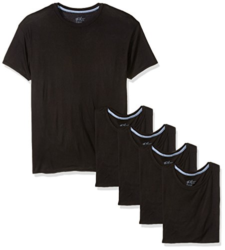 Hanes Men's 5-Pack X-Temp Comfort Cool Dyed Crewneck Undershirt, Black, X-Large