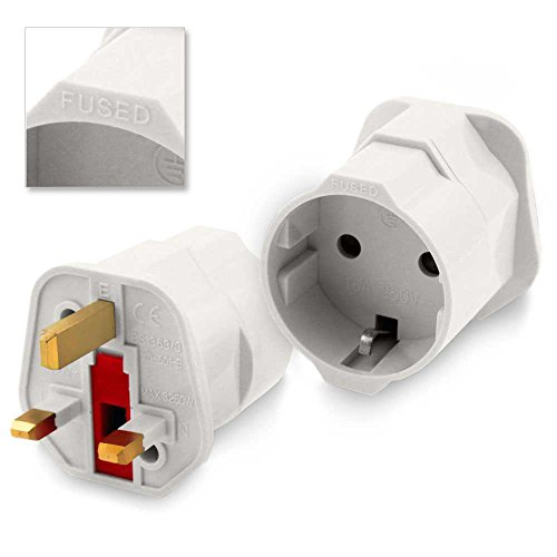 Adaptador Red Enchufe Europeo UE Schuko...
