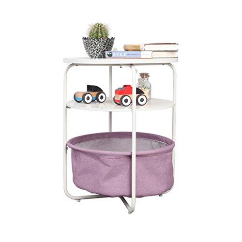 LTM-MPZ Petite Table Ronde avec Un Petit côté de Sofa Quelques Tables latérales Chambre Table de Chevet Table Basse Mobile (Couleur : Violet)