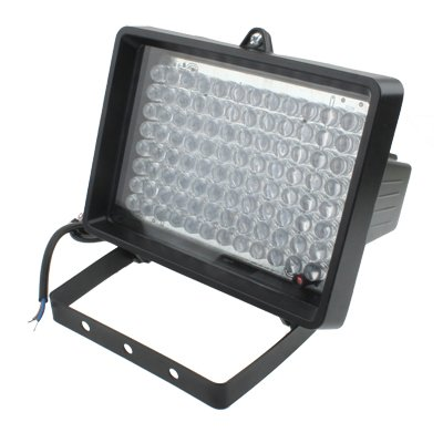 GJPAJGID Bewakingscamera 96 LED-hulplicht voor CCD-camera, IR-afstand: 100 m (ZT-496WF), grootte: 13x16,8 x 11 cm (zwart)