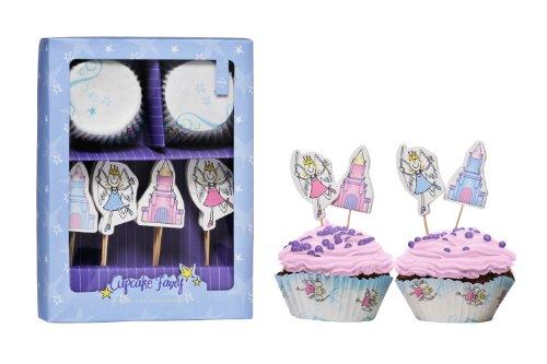 Premier Housewares 0805171 Set de 24 Formes Moule à Muffin I Love UK + 4 Pièces de Forme Assortis