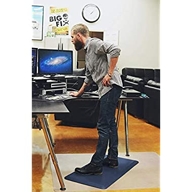 Sky Mat, Comfort Anti Fatigue Mat, Perfect for Kitchens and Standing Desks, 20 x 39 x 3/4  (7 Colors, 3 sizes) (Indigo Blue)