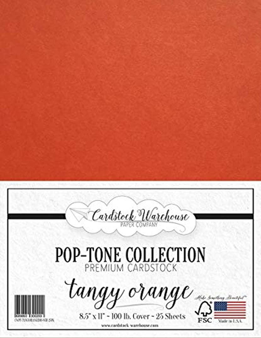 Tangy Orange Cardstock Paper - 8.5 x 11 inch 100 lb. Heavyweight Cover -25 Sheets from Cardstock Warehouse