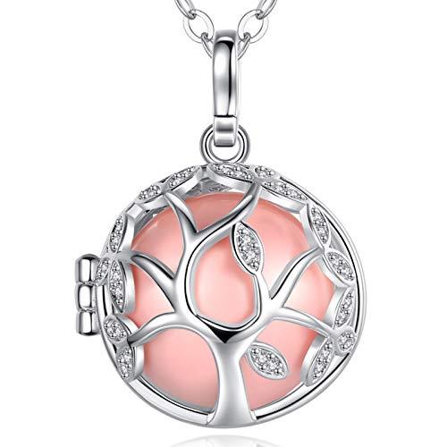 EUDORA Harmony Ball Cubique Zircone Arbre de Vie Médaillon Flottant Pendentif Femmes Collier avec...