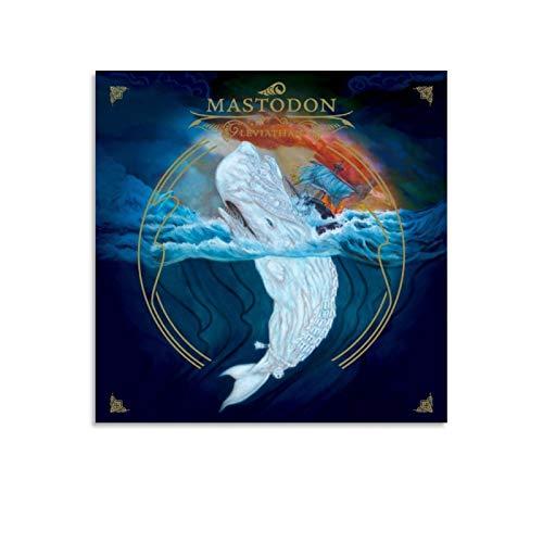 Moderne Kunst Mastodon Rock Star Poster Dekorative Malerei Leinwand Wandkunst Wohnzimmer Poster Schlafzimmer Gemälde 70 x 70 cm