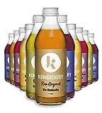 12x 330ml Bio-Kombucha RAW PROBIERMIX KOMBUCHERY: Fermentiert Unpasteurisiert Probiotisch Vegan...