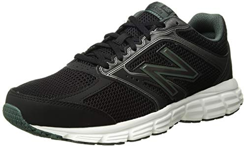 New Balance Men's 460v2 Cushioning Running Shoe, Black/Faded Rosin, 13 4E US