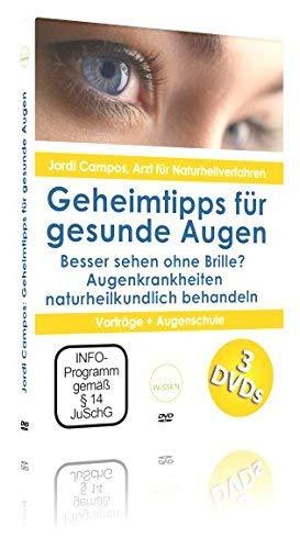Besser sehen ohne Brille? Jordi Campos: Geheimtipps für gesunde Augen Sehkraft verbessern DVD-Box