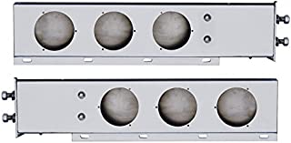 United Pacific Stainless Steel Mud Flap Hanger with Light Cutouts Spring Loaded 2.5