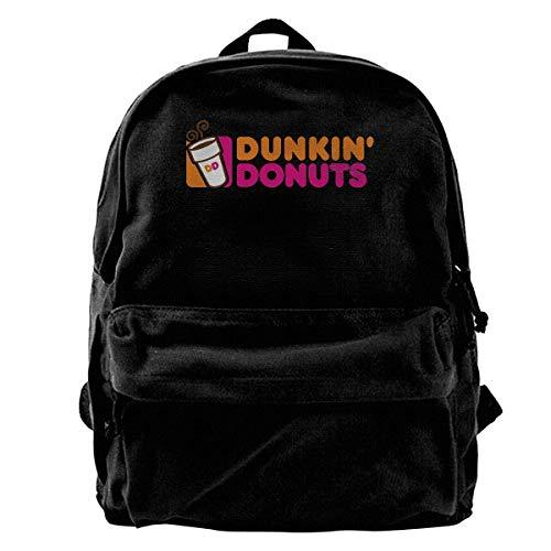 NJIASGFUI Rucksack aus Segeltuch, Doughnut Dunkin' D, für Fitnessstudio, Wandern, Laptop, Schultertasche für Männer und Frauen