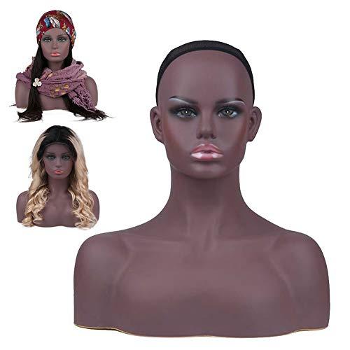 Écran PVC Tête Mannequin Props Support De Tête Factice Pour Les Boucles D'oreilles Collier De Chapeau Perruque Masque Casque,2