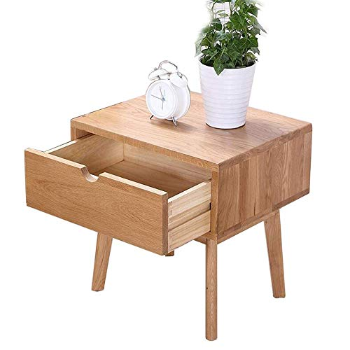 Coffee table, Tables Drawer Nightstand/Side Table, Wood Nightstand, Sofa & Console Tables, Living Room Bedroom Furniture, Wood Color Coffee Table Color : Wood, Size : 17.7113.7723.62in
