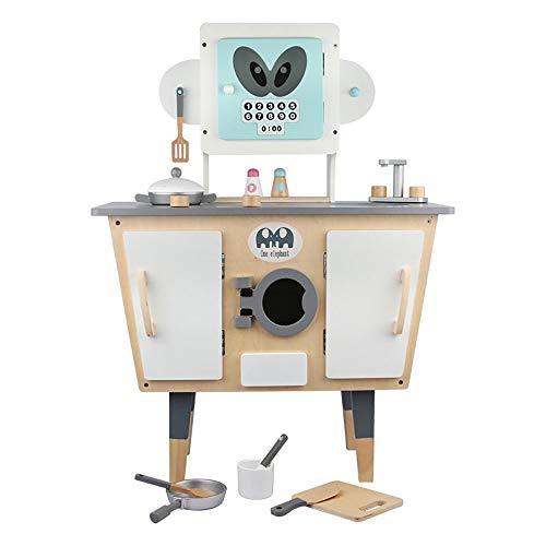 Asffdhley Juego de Cocina para niños Modelado Robot de Cocina Set de Juego Juego de rol niños de imaginación de Madera for niños Juego de cocinar Regalo Juguetes Set imaginación para niños y niñas